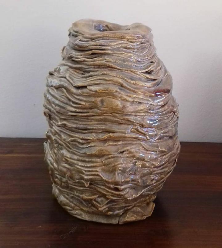 """"""" Rétegek """" kerámia váza"""